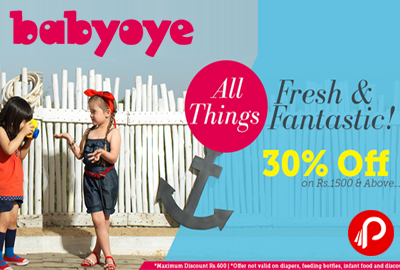 Baby Clothes & Accessories Flat 30% Off on Rs.1500 & Above | Fresh & Fantastic - Babyoye