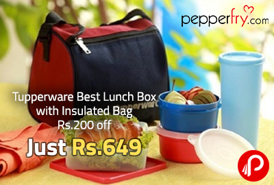 Tupperware Best Lunch Box with Insulated Bag Rs.200 off Just @ Rs. 649 - Pepperfry