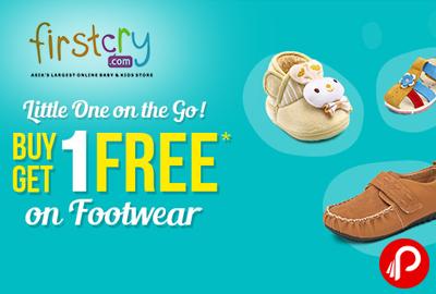 Buy 1 Get 1 Free on Footwear - Firstcry