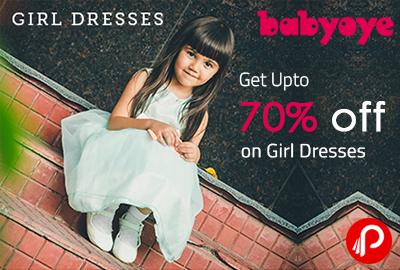 Get UPTO 70% off on Girl Dresses - Babyoye