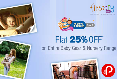 Get Flat 25% off on Baby Gear & Nursery Range | New Year Special – Firstcry
