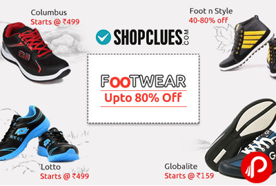 Footwear UPTO 80% off Columbus, FootnStyle, Lotto, Globalite - Shopclues