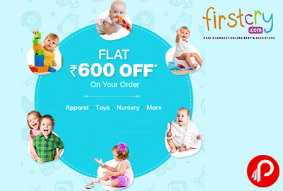Flat 600 off on Minimum Purchase 1999 - Firstcry
