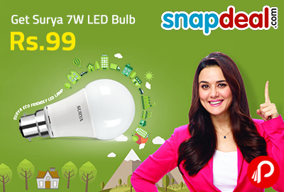 Get Surya 7W LED Bulb in 99   Make in India - Snapdeal