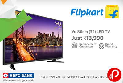 Vu 80cm (32) HD Ready LED TV Just in Rs 13990 | Republic Day Sale – Flipkart