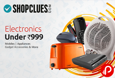 Electronic Mobiles, Appliances, Gadget Accessories Under Rs.999 - Shopclues