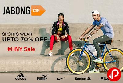 Get UPTO 70% off on Nike, Puma, Adidas, Reebok, Fila Sportswear   #HNY Sale - Jabong