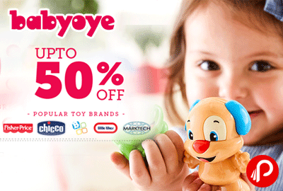 Get UPTO 50% off on Popular Toy Brands - Babyoye