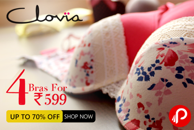 Set of 4 Bras Set at Price of Rs. 599 - Clovia