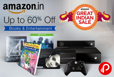 Books & Entertainment UPTO 60% off - Amazon