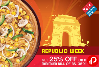 Dominos india coupons 25 off