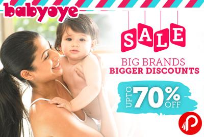 Get UPTO 70% off on Big Brands Sale Big Discounts - Babyoye