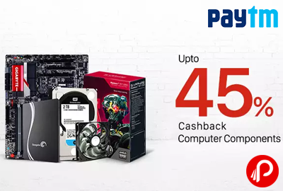 Get UPTO 45% Cashback on Computer Accessories   Electronic Add-ons Sale - Paytm