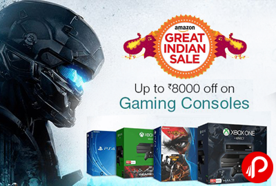 XBOX & PS4 Gaming Consoles UPTO Rs8000 off - Amazon