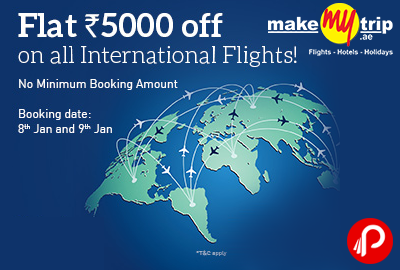 Make my trip international flight discount coupons