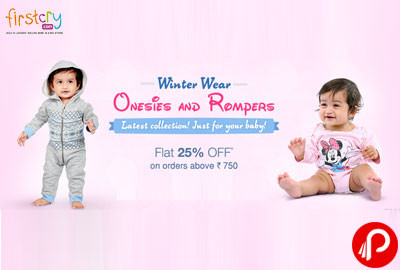 Onesies & Rompers Flat 25% off Winter Wear - Firstcry