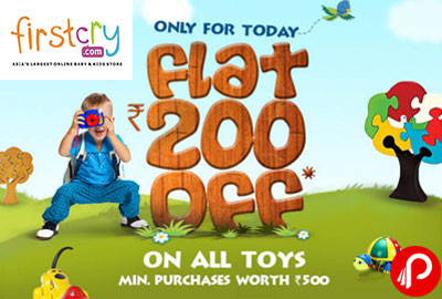 Toys Rs. 200 off on Toys worth Rs. 500 - Firstcry
