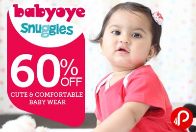 Get 60% off on Cute and Comfortable Baby Wear - BabyOye