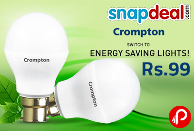 Crompton 7W LED @ Rs. 99 UPTO 73% off - Snapdeal