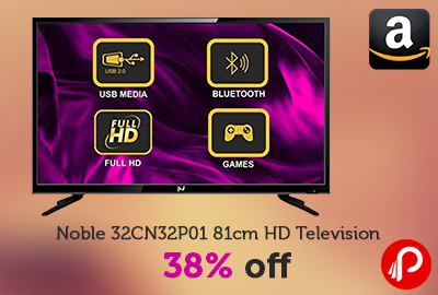 Noble 32CN32P01 81cm HD Television 38% off | Deal of the Day - Amazon