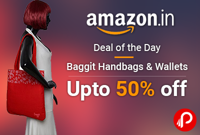Baggit Handbags Wallets Upto 50 Off Deal Of The Day