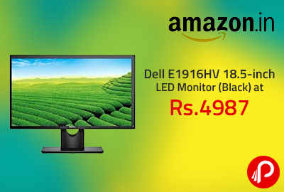 Dell E1916HV 18.5-inch LED Monitor (Black) at Rs. 4987 - Amazon
