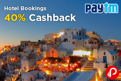 40% Cashback on Hotel Bookings