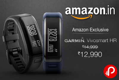 Garmin VivoSmart HR at Rs.12990 | Rs.2009 off - Amazon