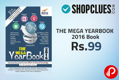THE MEGA YEARBOOK 2016 Book at Rs.99 - Shopclues