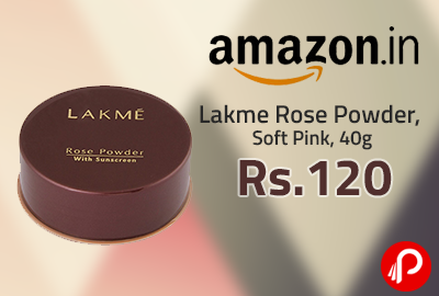 Lakme Rose Powder, Soft Pink, 40g at Rs. 120 | Lightning Deal - Amazon