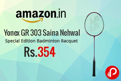Yonex GR 303 Saina Nehwal Special Edition Badminton Racquet at Rs.354 - Amazon