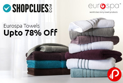 Eurospa Towels UPTO 78% off Starting Rs.145