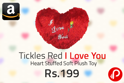 Tickles Red I Love You Heart Stuffed Soft Plush Toy @ 199 | Lightning Deals - Amazon