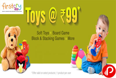 Toys at Rs. 99 Soft Toys, Board Game, Block & Stacking Games - Firstcry