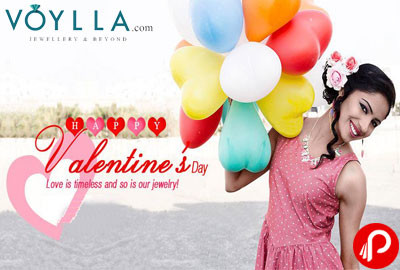 Women Jewellery 65% off on Celebrating Valentines Day - Voylla