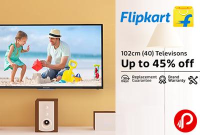 LED 102cm (40) Televisions Upto 45% off - Flipkart