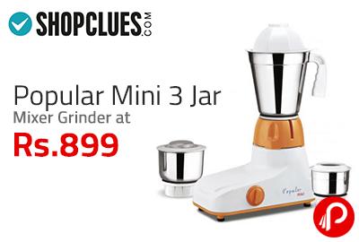Popular Mini 3 Jar Mixer Grinder at Rs. 899