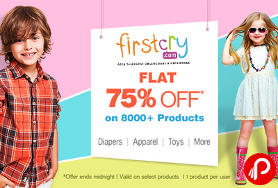 Diapers, Apparel, Toys & more Flat 75% off - Firstcry
