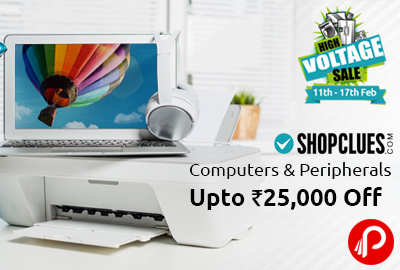 High Voltage Sale | Computers & Peripherals Upto 50% off - Shopclues