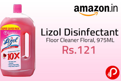 Lizol Disinfectant Floor Cleaner Floral, 975ML at Rs.121 | Best Seller - Amazon