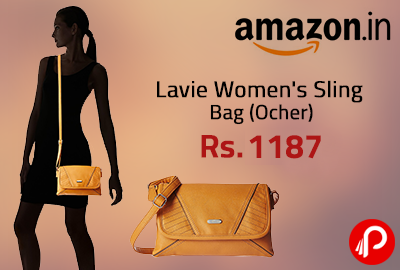 Lavie Women's Sling Bag (Ocher) @ Rs. 1187 | Lightning Deal - Amazon