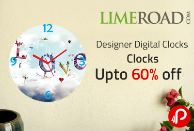 Clocks Upto 60% off | Designer Digital Clocks - Limeroad