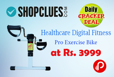 Healthcare Digital Fitness Pro Exercise Bike at Rs. 3999 | Daily Cracker Deal - Shopclues