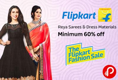3bc4d1cb884 Reya Sarees & Dress Materials Minimum 60% off – Flipkart