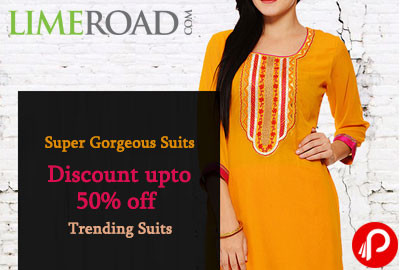 Super Gorgeous Suits Discount upto 50% off | Trending Suits - Limeroad
