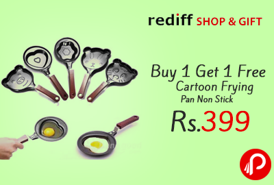 Buy 1 Get 1 Free Cartoon Frying Pan Non Stick at Rs.399 - Rediff