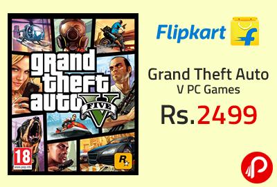 Grand Theft Auto V PC Games at Rs.2499 - Flipkart