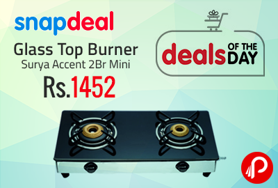 Glass Top Burner Surya Accent 2Br Mini at Rs.1452 - Snapdeal