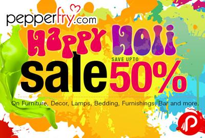 Happy Holi Sale Upto 50% + 15% Cashback Mobikwik - Pepperfry