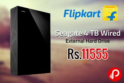 Seagate 4 TB Wired External Hard Drive at Rs.11555 - Flipkart